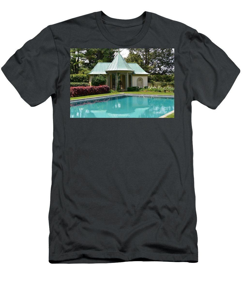 Chanticleer Bath House Men's T-Shirt (Athletic Fit) featuring the photograph Chanticleer Bath House A by Jeannie Rhode