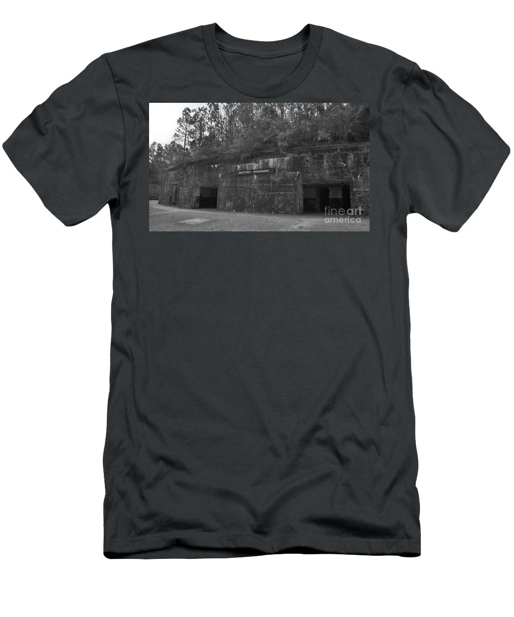 Military Men's T-Shirt (Athletic Fit) featuring the photograph Battery Dearborn by Richard Rizzo