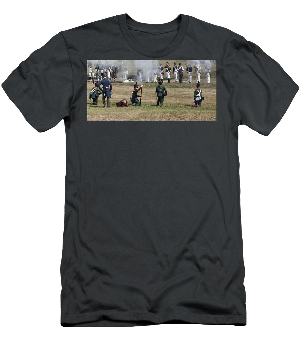 Old Fort Niagara Men's T-Shirt (Athletic Fit) featuring the photograph Battle 1 by Peter Chilelli