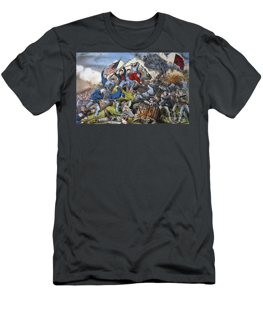 1863 Men's T-Shirt (Athletic Fit) featuring the photograph Battle Of Chattanooga 1863 by Granger