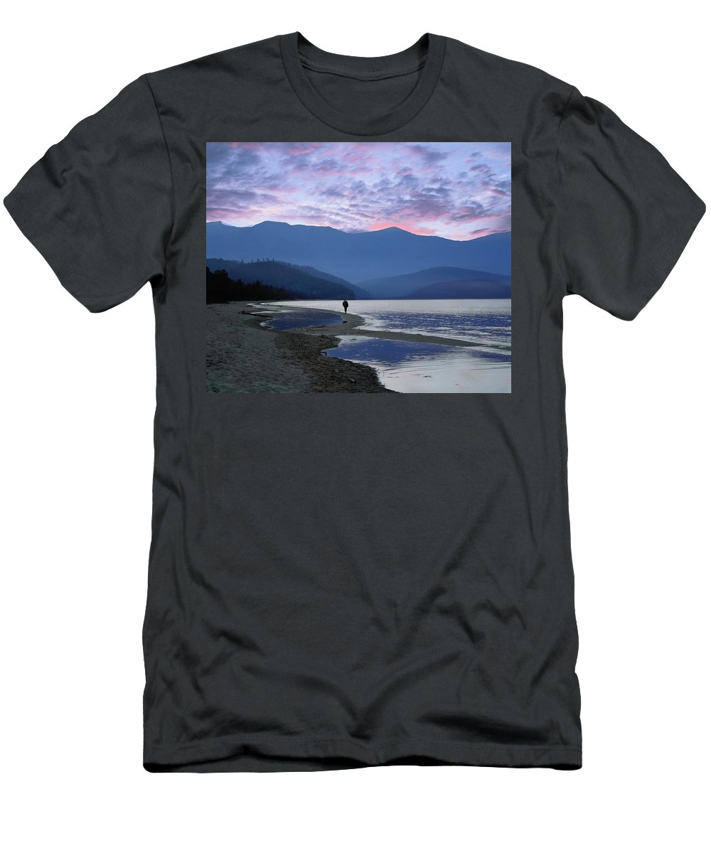 Landscape Men's T-Shirt (Athletic Fit) featuring the photograph Baykal Lake by Vladimir Kholostykh
