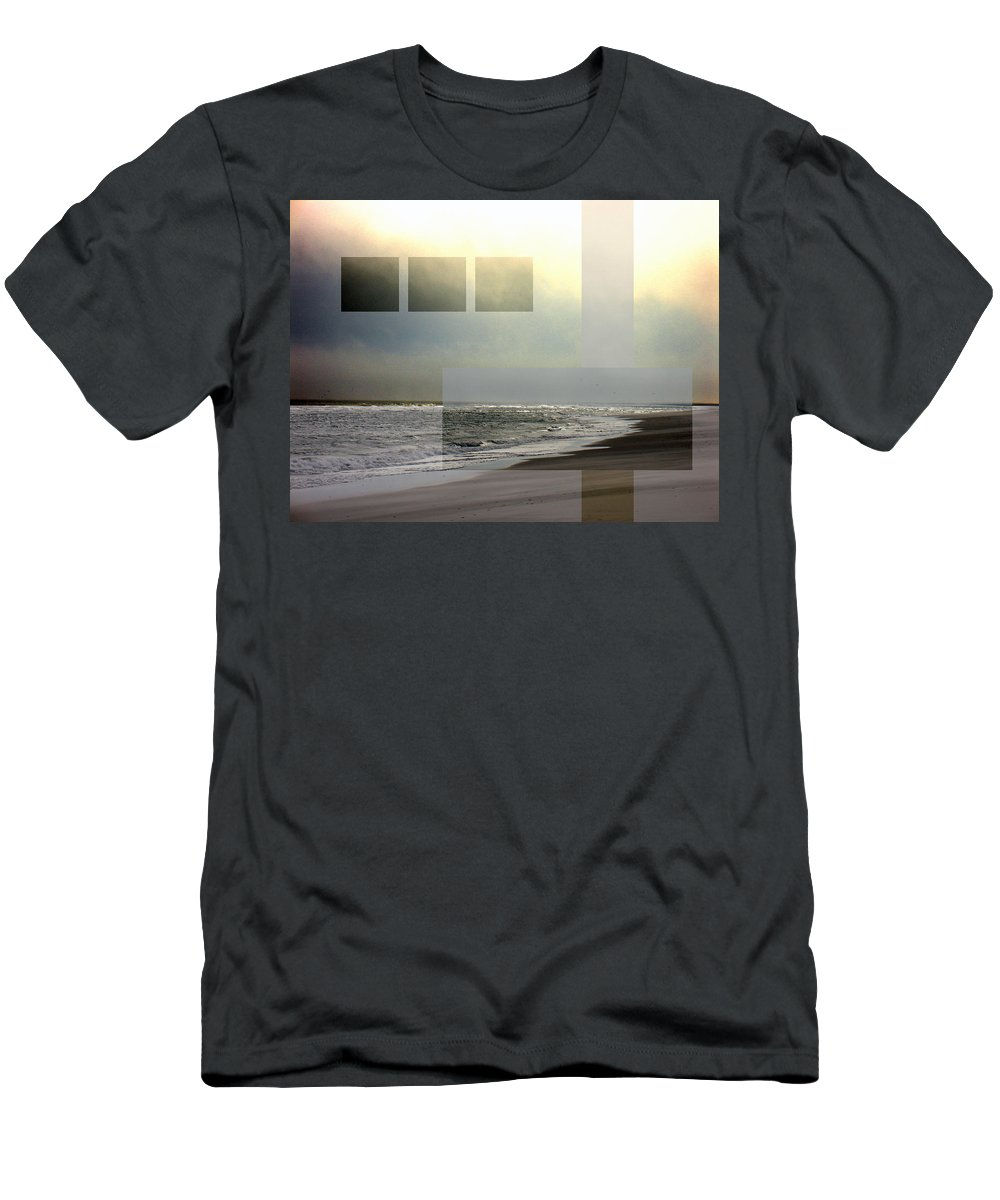 Beach Men's T-Shirt (Athletic Fit) featuring the photograph Beach Collage 2 by Steve Karol