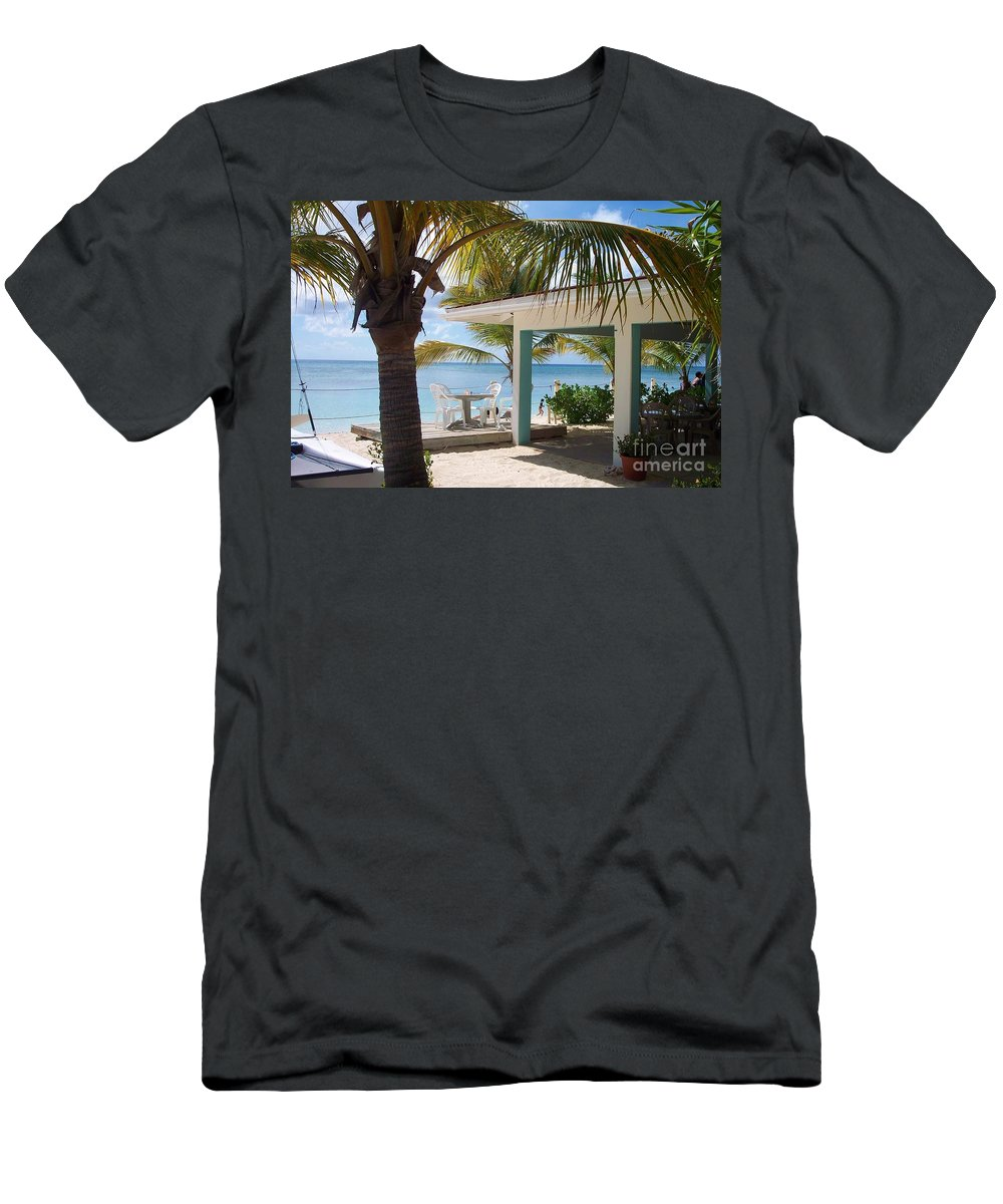 Beach Men's T-Shirt (Athletic Fit) featuring the photograph Beach In Grand Turk by Debbi Granruth