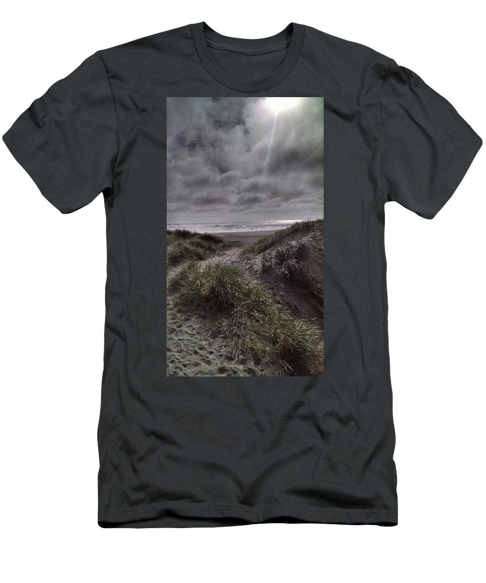Beach T-Shirt featuring the photograph Beach path by Shari Chavira
