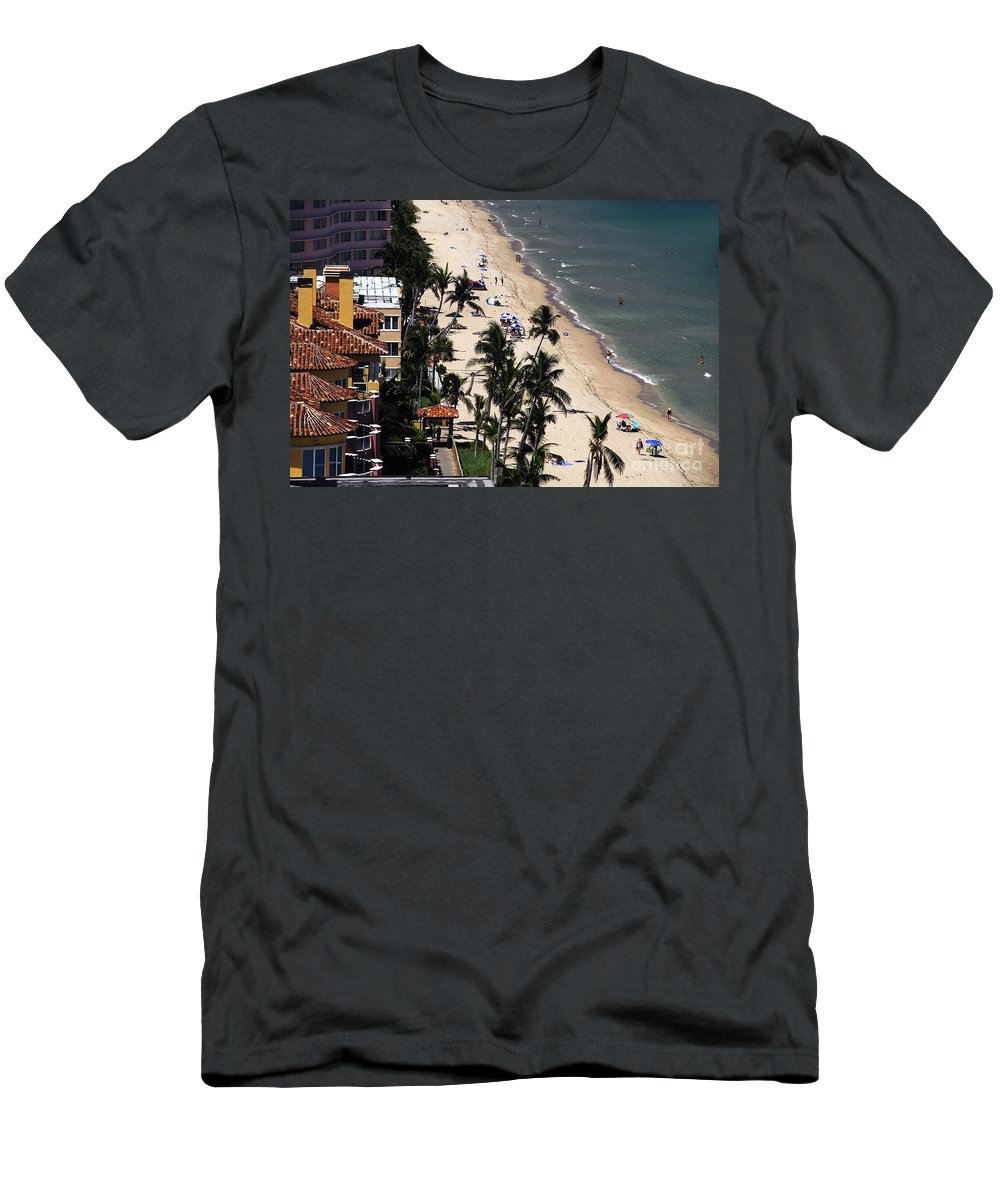 Beach Men's T-Shirt (Athletic Fit) featuring the photograph Beach Scene by David Lee Thompson