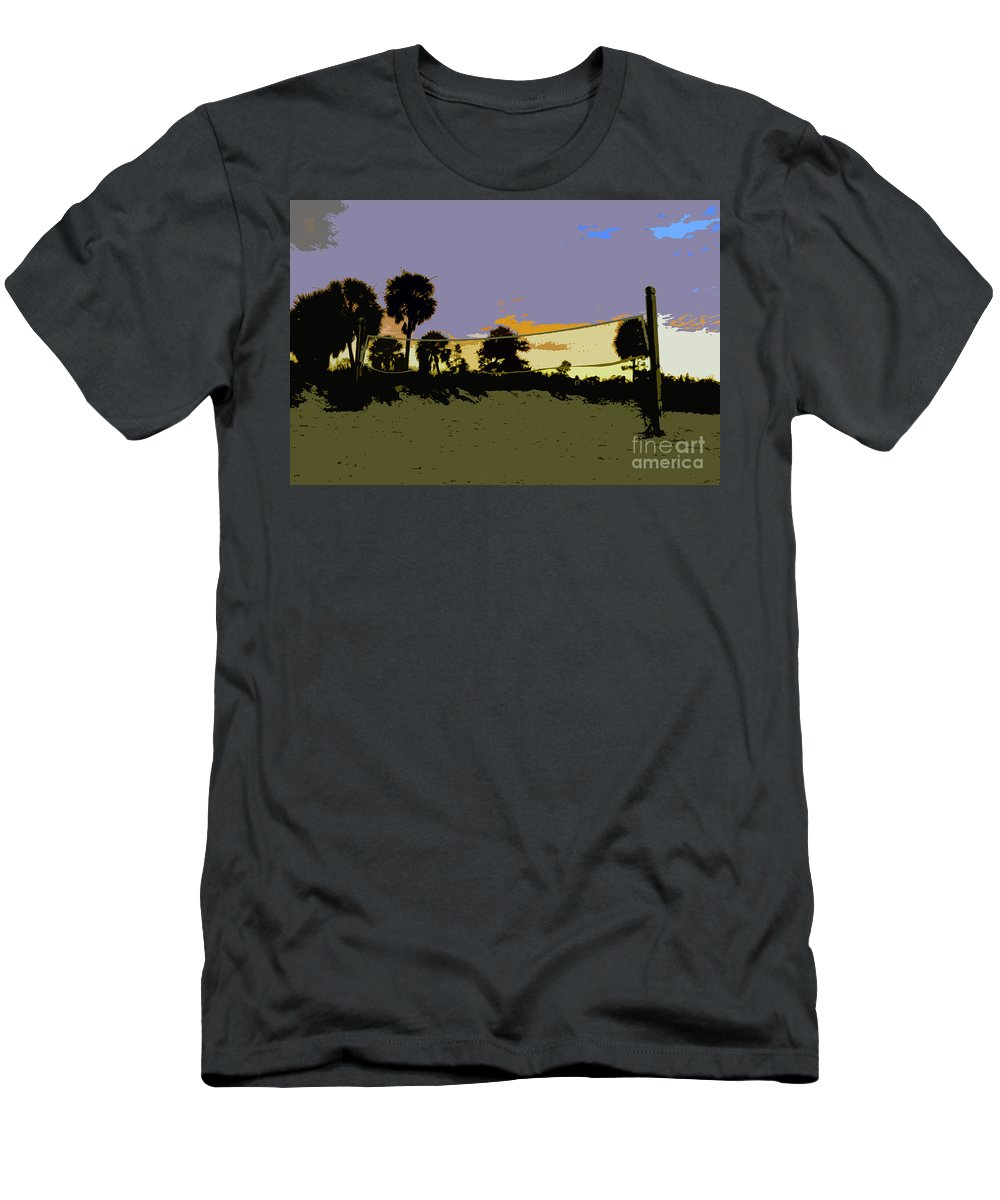 Beach Volley Ball Men's T-Shirt (Athletic Fit) featuring the painting Beach Volley Ball by David Lee Thompson