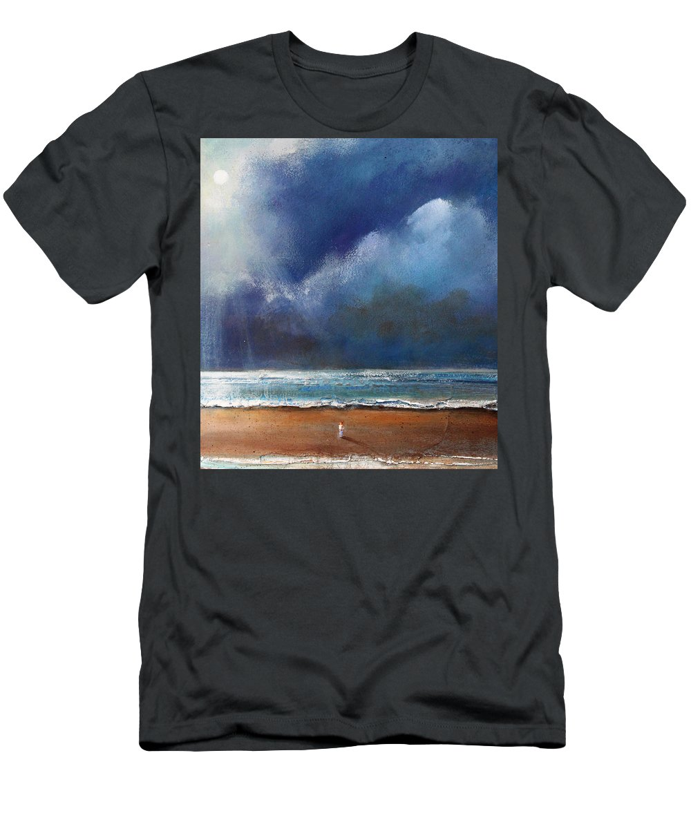 Night Men's T-Shirt (Athletic Fit) featuring the painting Beach Wish by Toni Grote