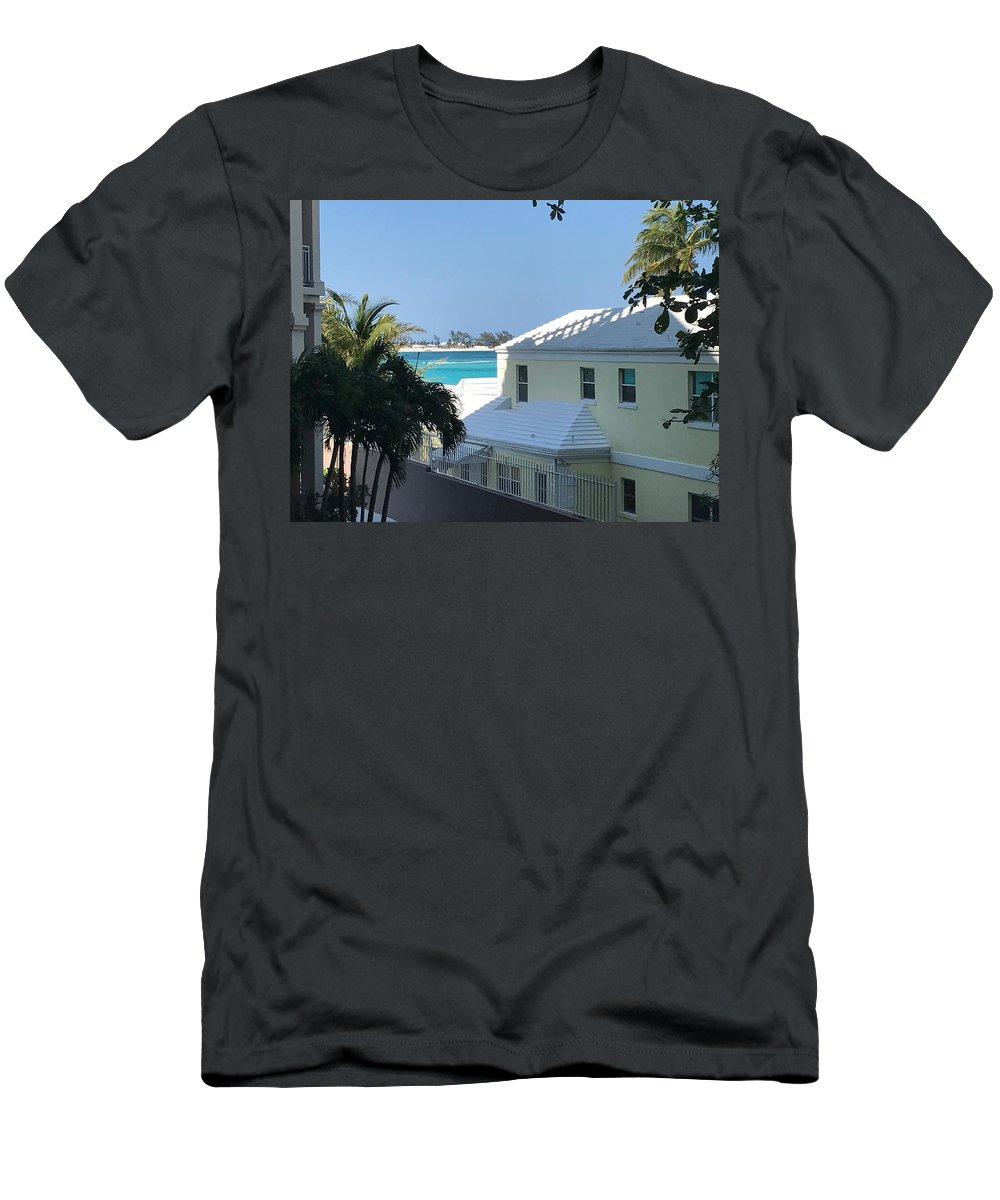 House Men's T-Shirt (Athletic Fit) featuring the photograph Beachfront Property by Alex Creighton