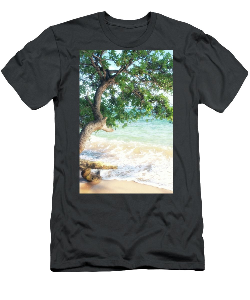 Usa Men's T-Shirt (Athletic Fit) featuring the photograph Beachscape Tree by Savanah Plank