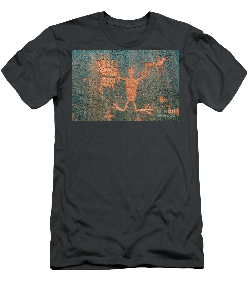 Ute Men's T-Shirt (Athletic Fit) featuring the photograph Bear Clan Horse Rider by David Lee Thompson