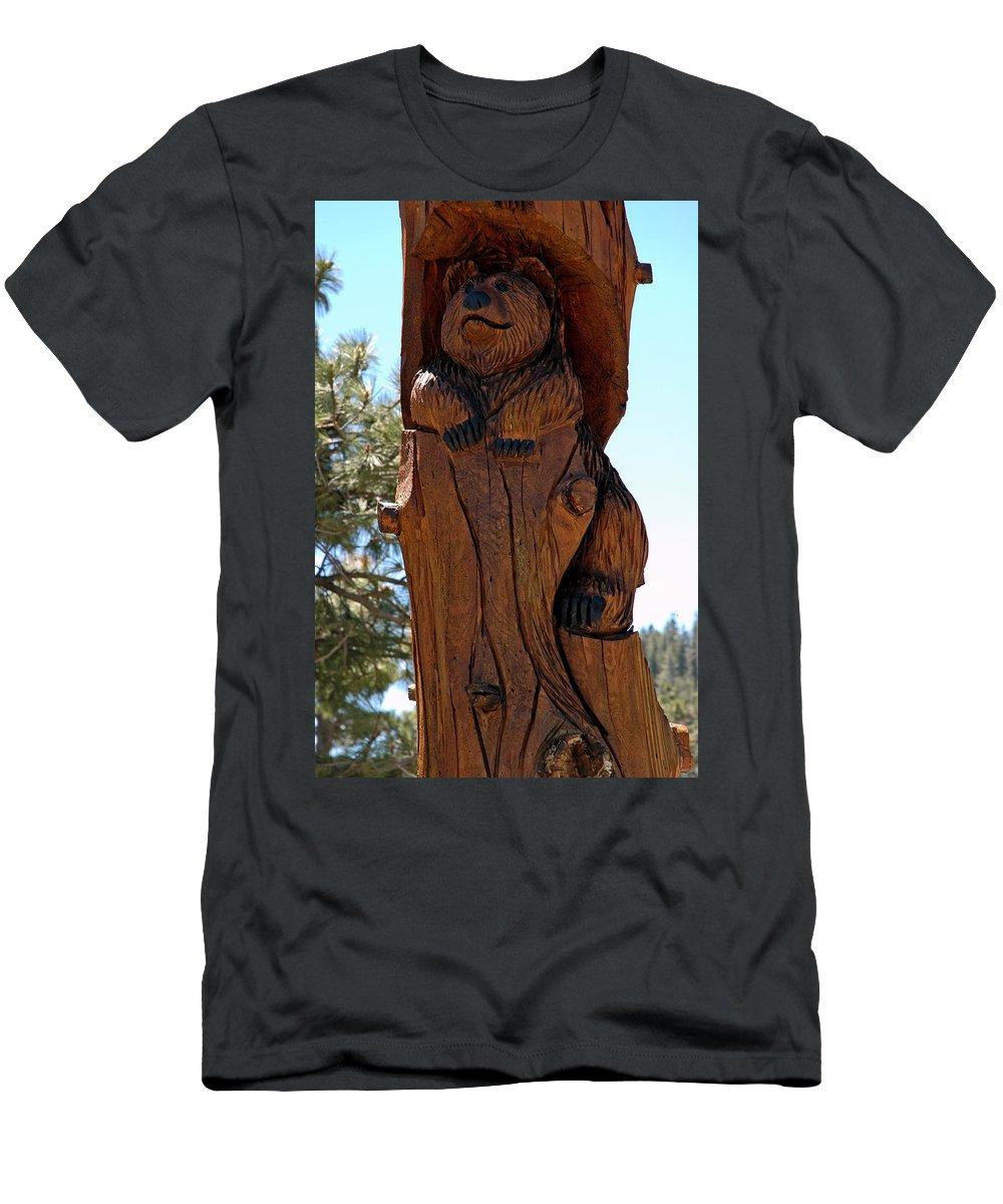Usa Men's T-Shirt (Athletic Fit) featuring the photograph Bear In Wood by LeeAnn McLaneGoetz McLaneGoetzStudioLLCcom