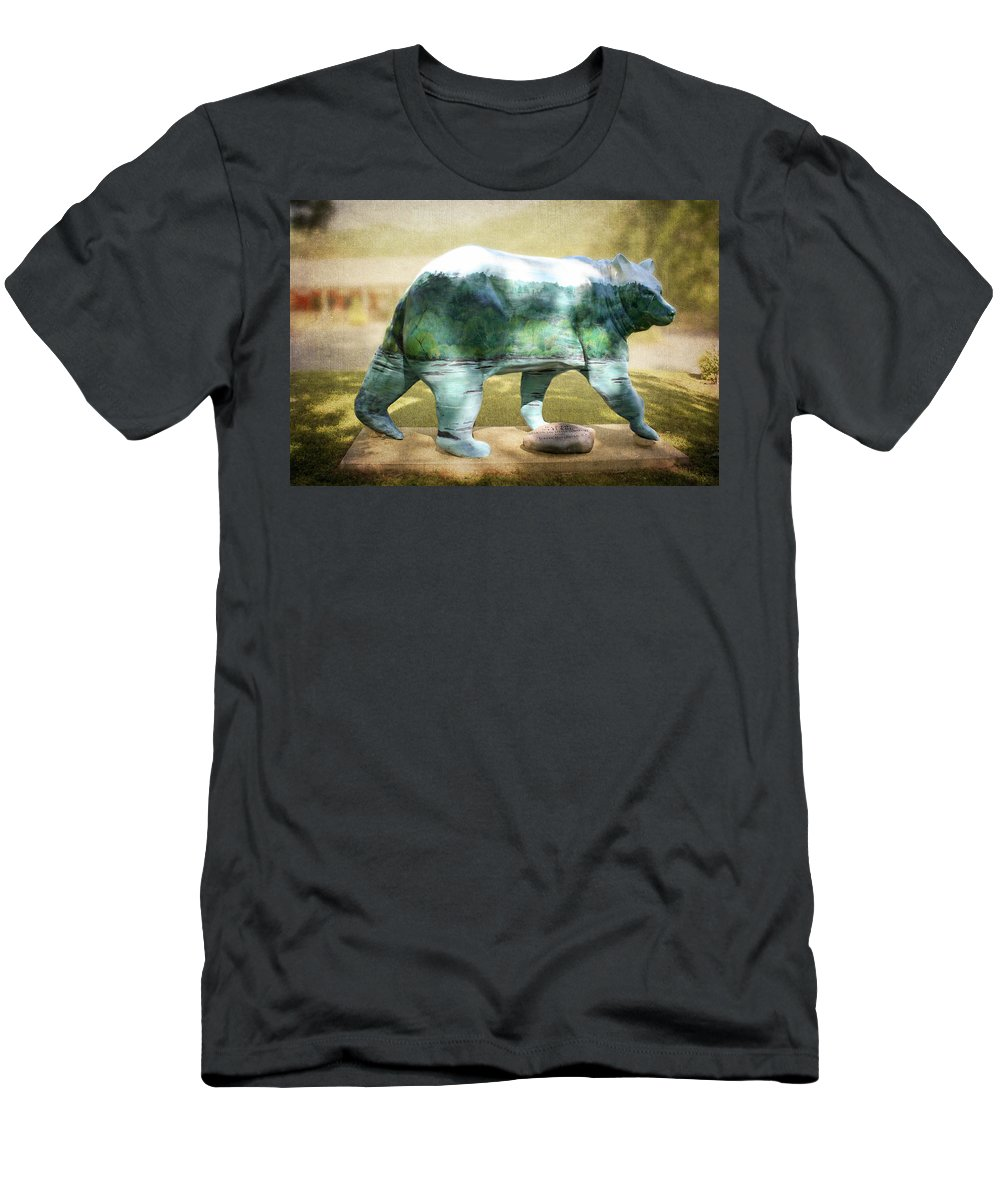 Bear On The Little Tennessee River Men's T-Shirt (Athletic Fit) featuring the photograph Bear On The Little Tennessee River by Cynthia Woods