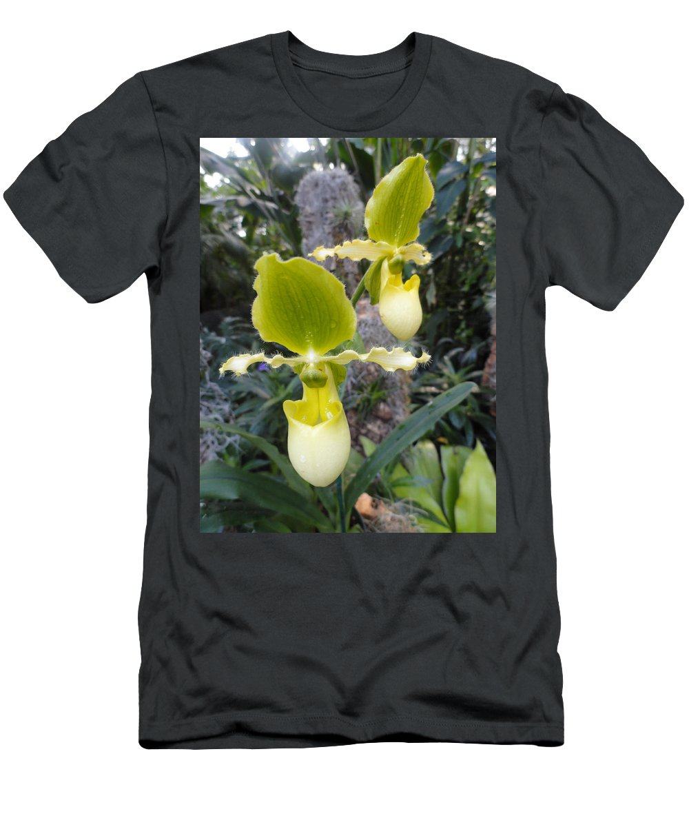 Orchids Men's T-Shirt (Athletic Fit) featuring the photograph Bearded Ladies by Trish Hale