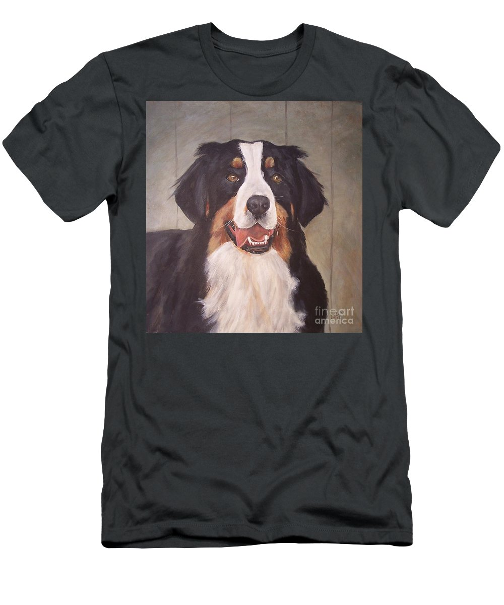 Dogs Men's T-Shirt (Athletic Fit) featuring the painting Beau by Elizabeth Ellis