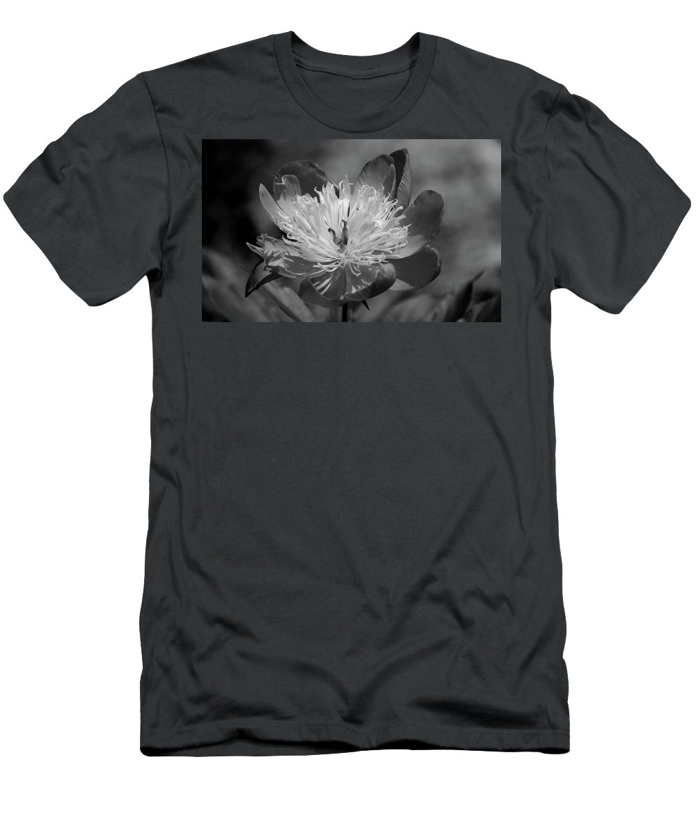Peony Men's T-Shirt (Athletic Fit) featuring the photograph Beautiful Anyway by Lori Tambakis
