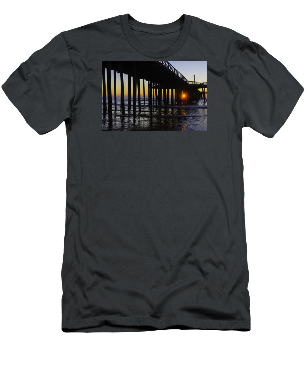 Pismo Beach Men's T-Shirt (Athletic Fit) featuring the photograph Beautiful Pismo Beach Sunset by Garry Gay