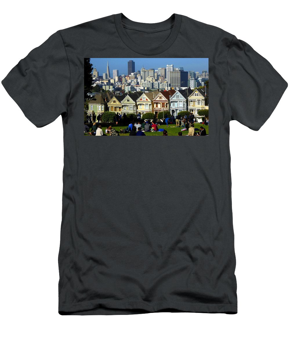 San+francisco Men's T-Shirt (Athletic Fit) featuring the photograph Beautiful San Francisco by Peter Potter