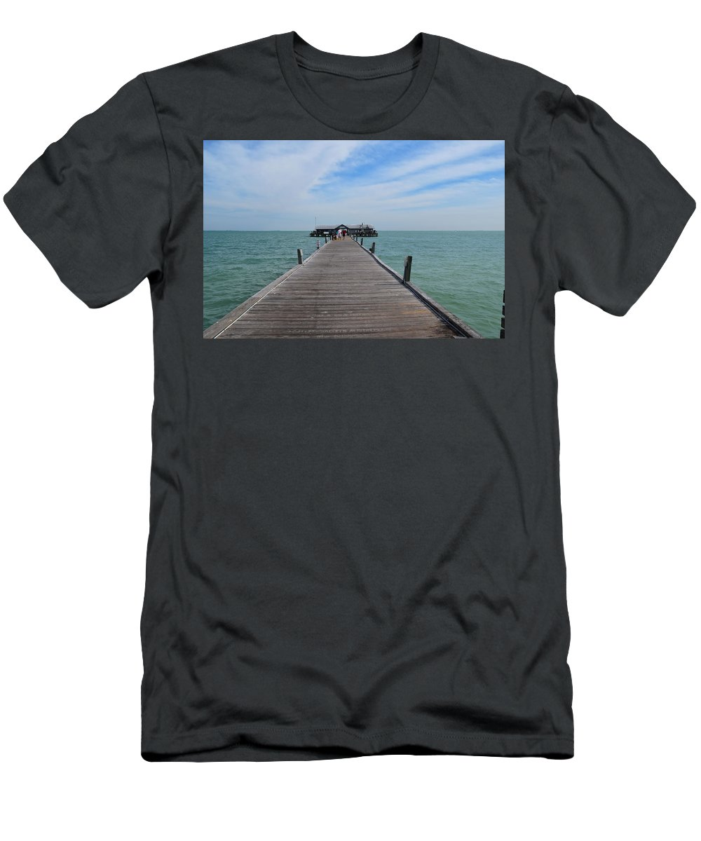 Ocean Men's T-Shirt (Athletic Fit) featuring the photograph Beautiful Spring Day by Jan Mulherin