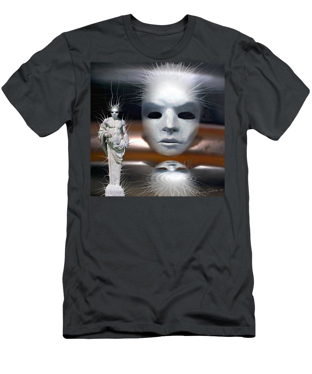 Digital Beauty Eyes Water Men's T-Shirt (Athletic Fit) featuring the digital art Beauty Is Invisible To The Eye. by Veronica Jackson