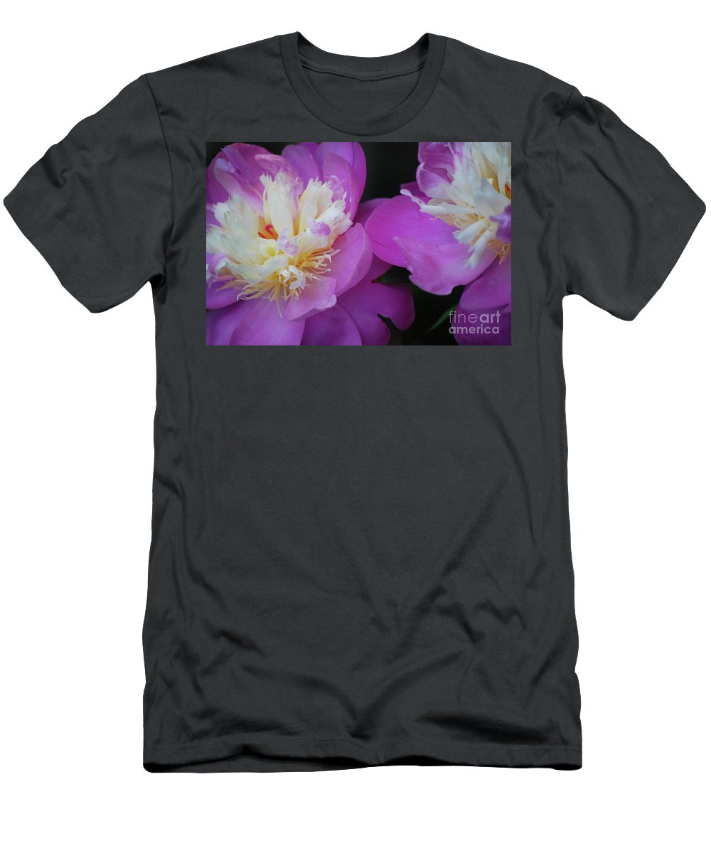 Peony Men's T-Shirt (Athletic Fit) featuring the photograph Beauty Is What We Do by Lori Tambakis