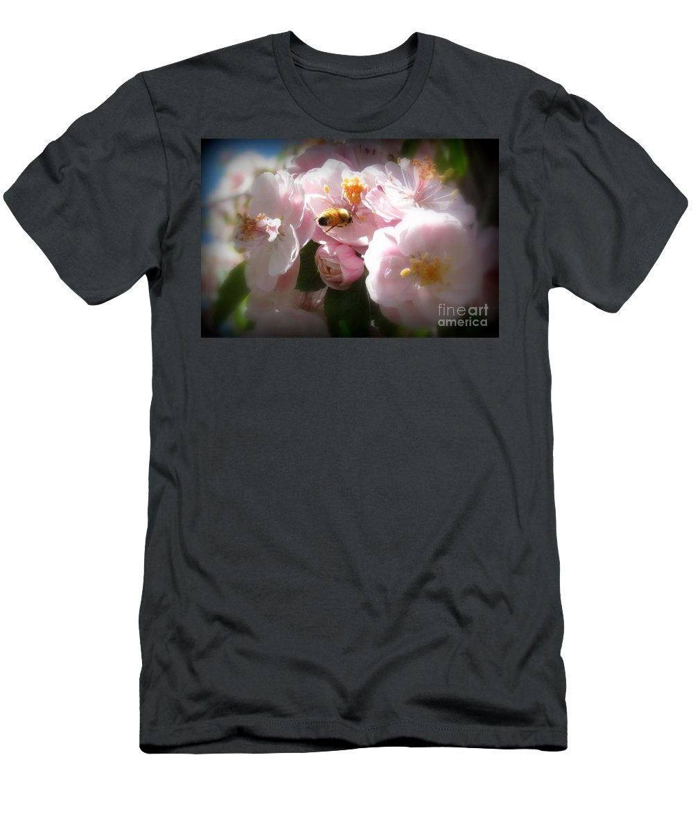 Men's T-Shirt (Athletic Fit) featuring the photograph Bee Blossoms 2 by Krista Carofano