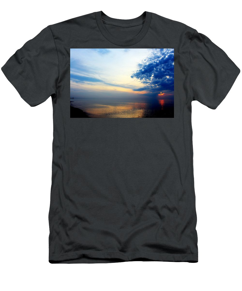 Grand Bend Men's T-Shirt (Athletic Fit) featuring the photograph Before The Front 4 by John Scatcherd