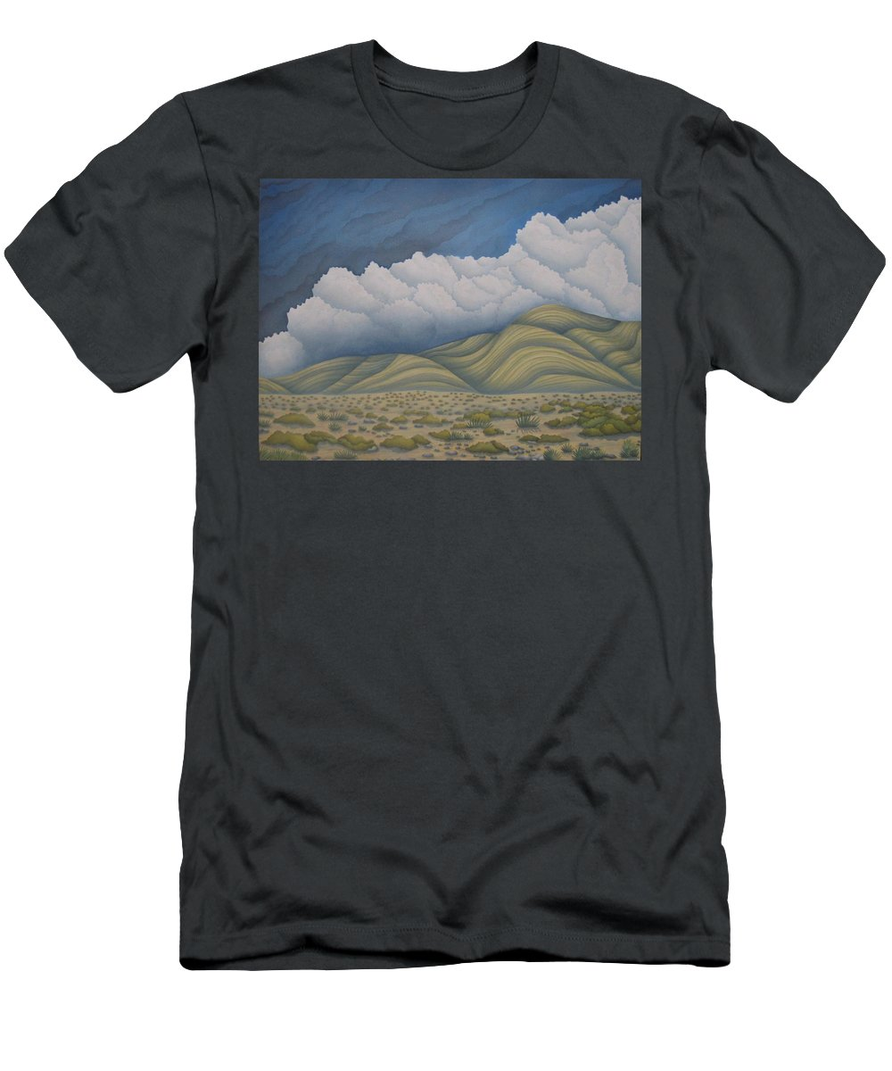 Landscape Men's T-Shirt (Athletic Fit) featuring the painting Before The Rain by Jeniffer Stapher-Thomas