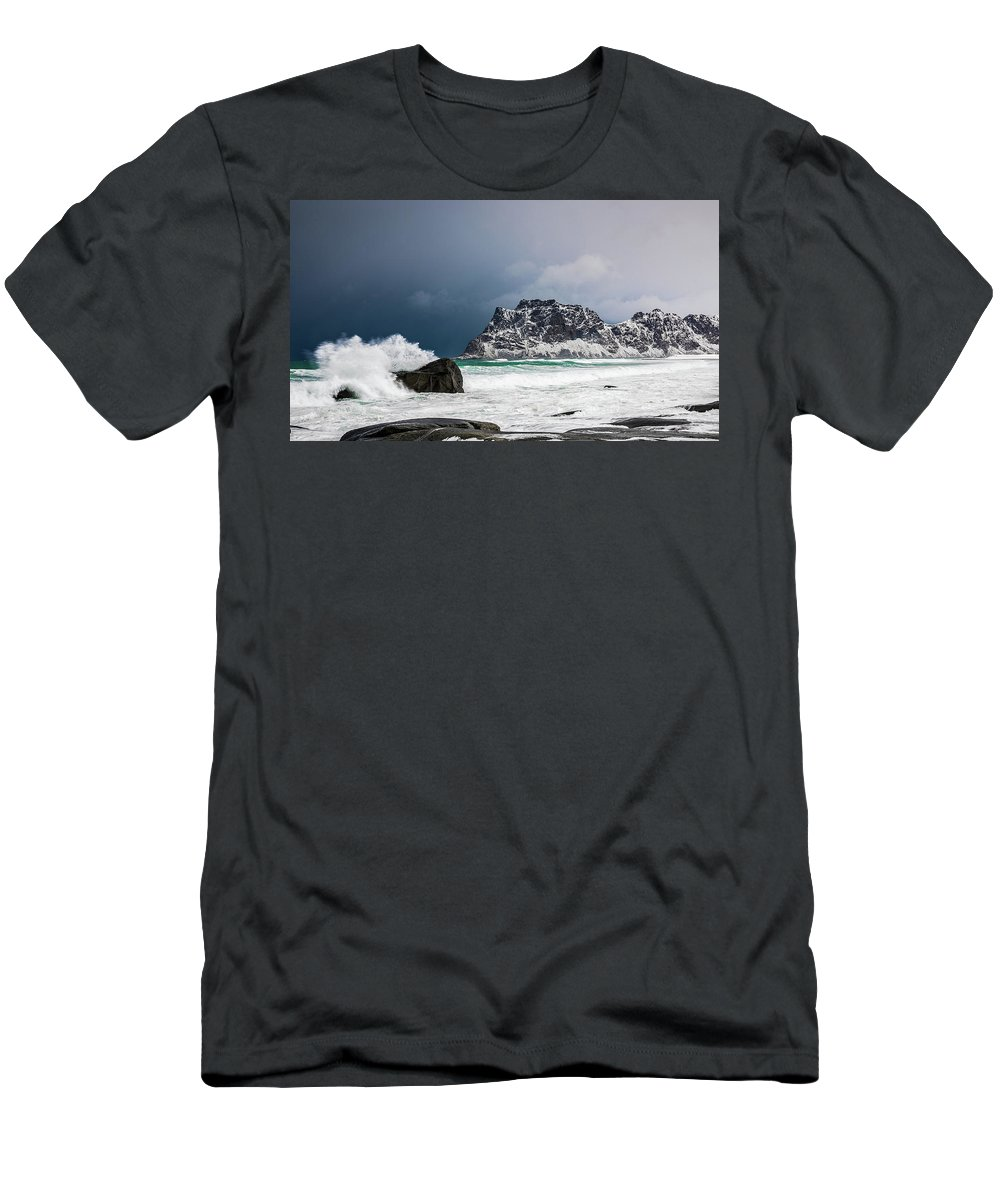 Norway Men's T-Shirt (Athletic Fit) featuring the photograph The Coming Of The Storm by Adrian Salcu