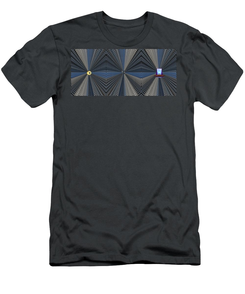 Abstract Men's T-Shirt (Athletic Fit) featuring the digital art Behind Door Number 3 by Tim Allen