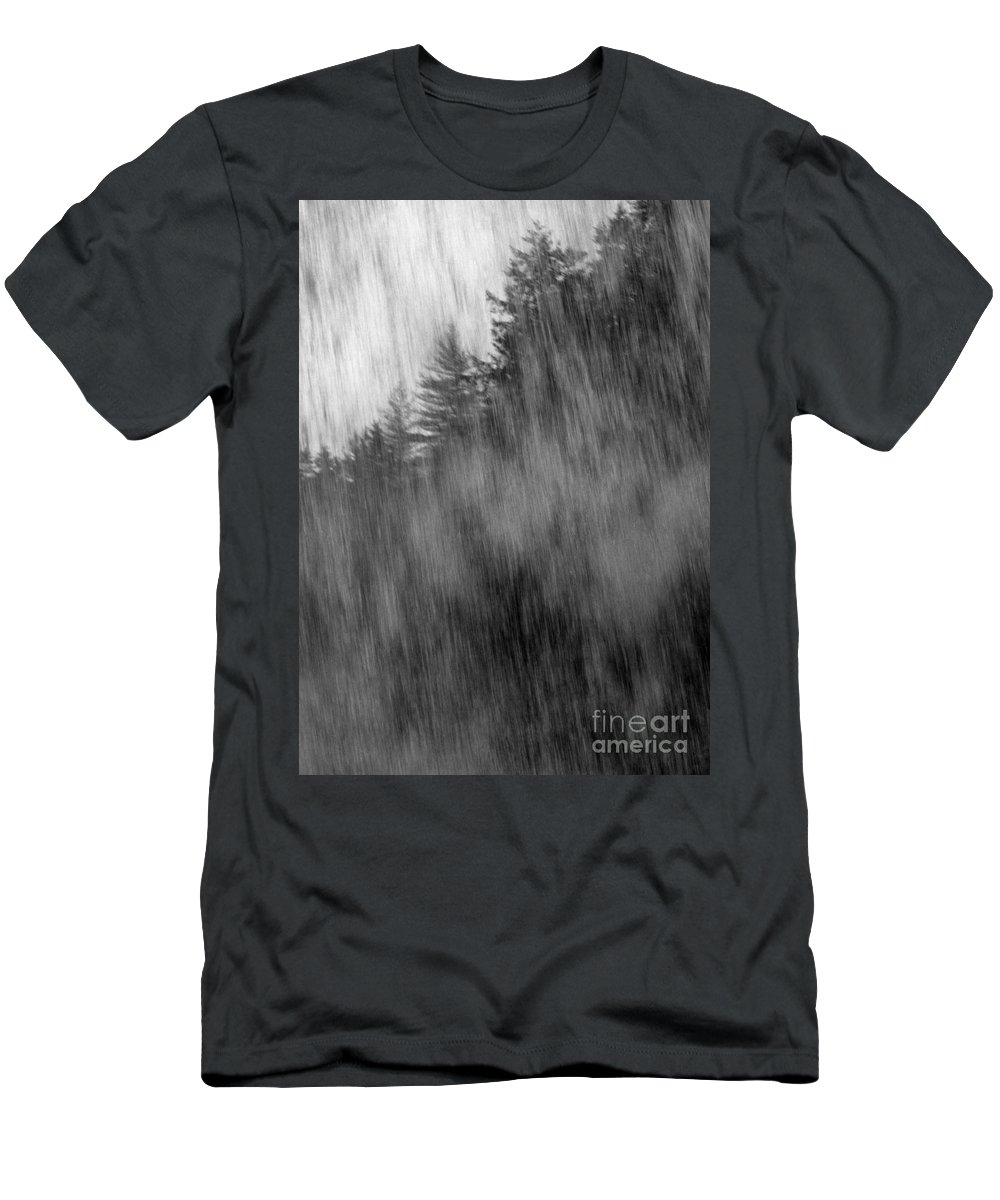 Waterfalls Men's T-Shirt (Athletic Fit) featuring the photograph Behind The Falls by Richard Rizzo