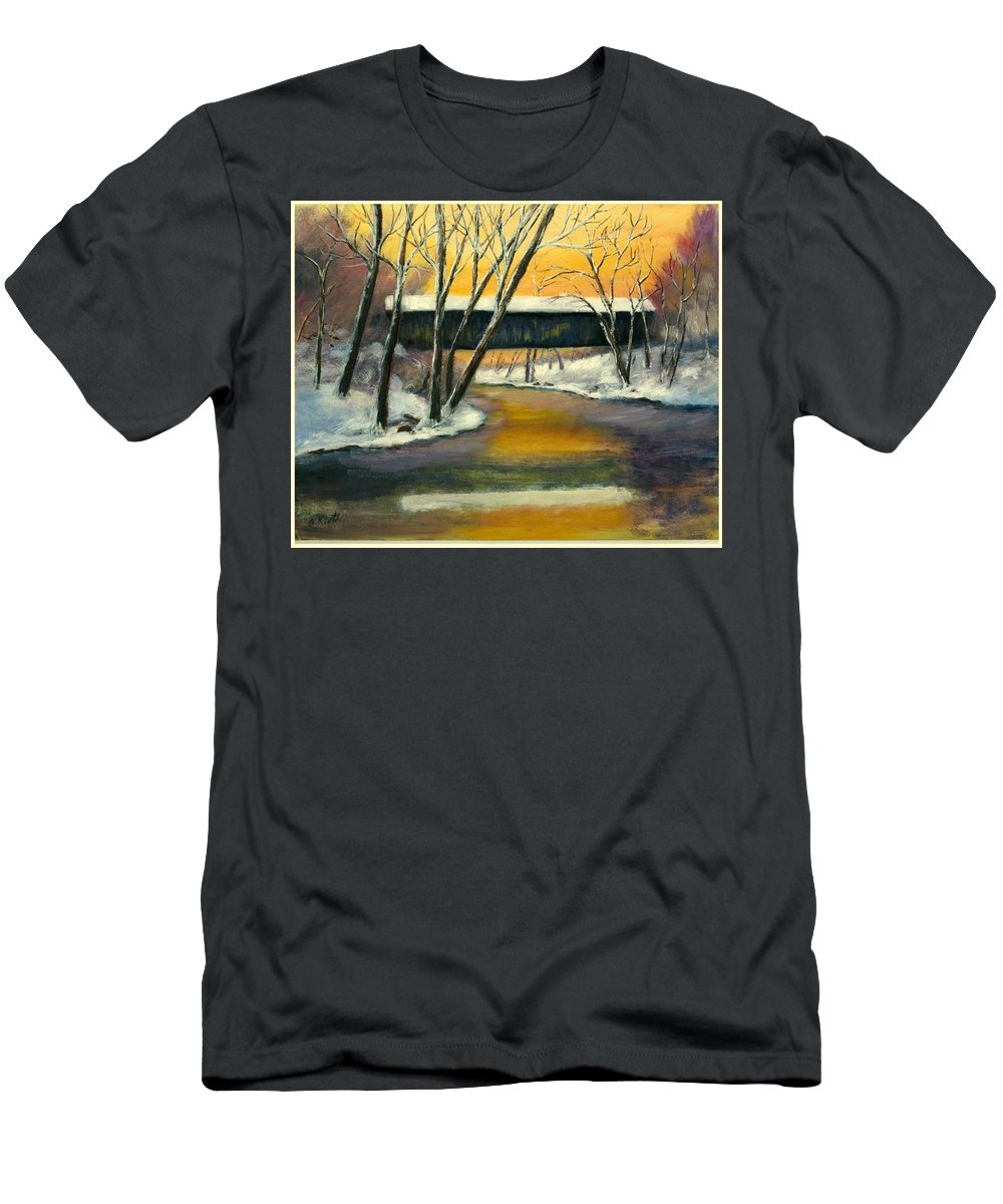 Kentucky Men's T-Shirt (Athletic Fit) featuring the painting Bennett by Gail Kirtz