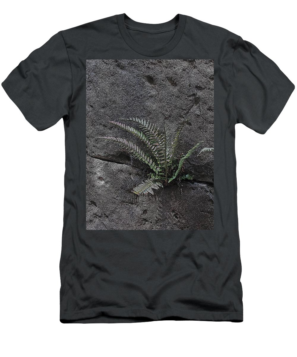 Rock Men's T-Shirt (Athletic Fit) featuring the digital art Between A Rock And A Hard Place by Tim Allen