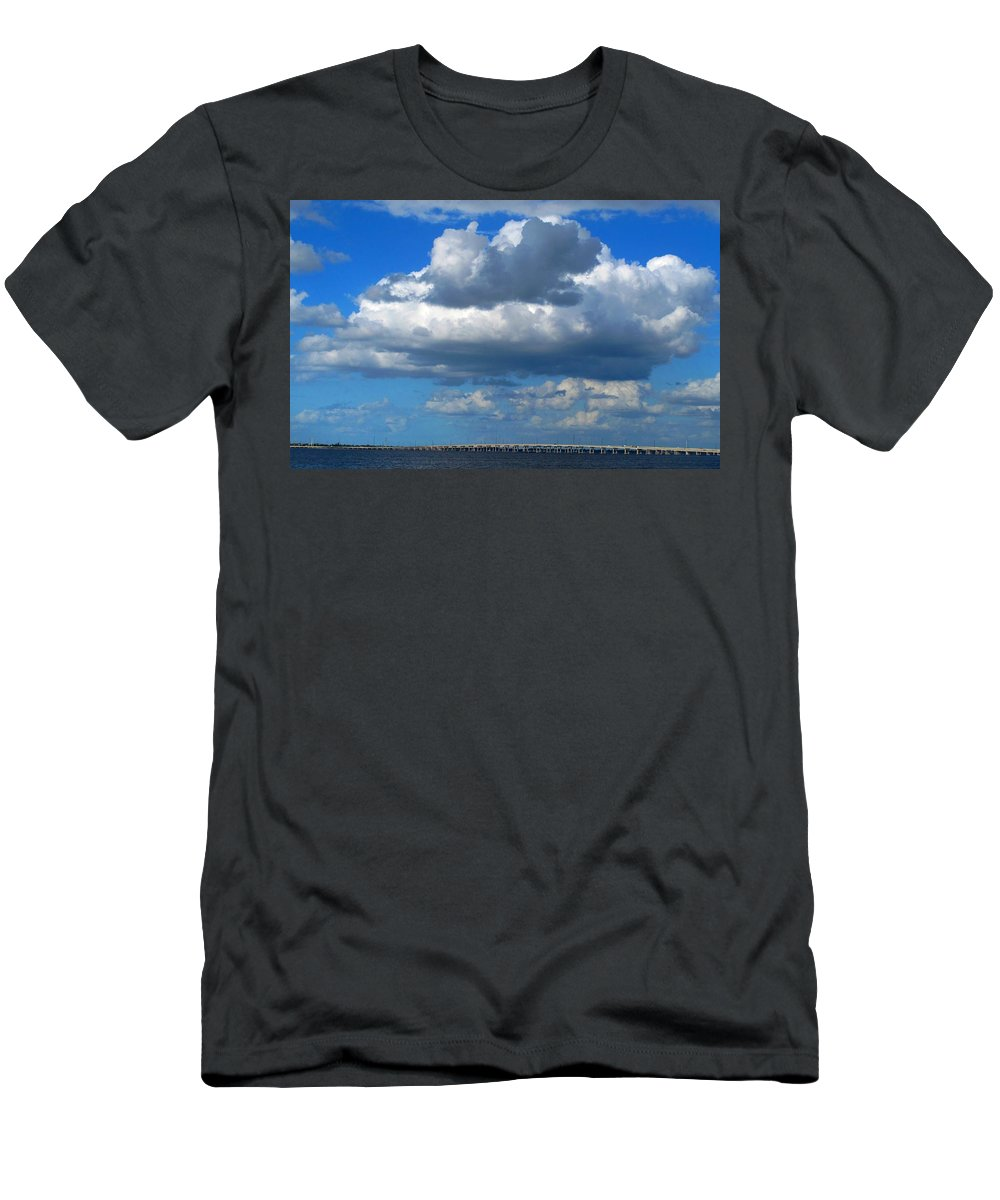 Punta Gorda Men's T-Shirt (Athletic Fit) featuring the photograph Between by Ian MacDonald