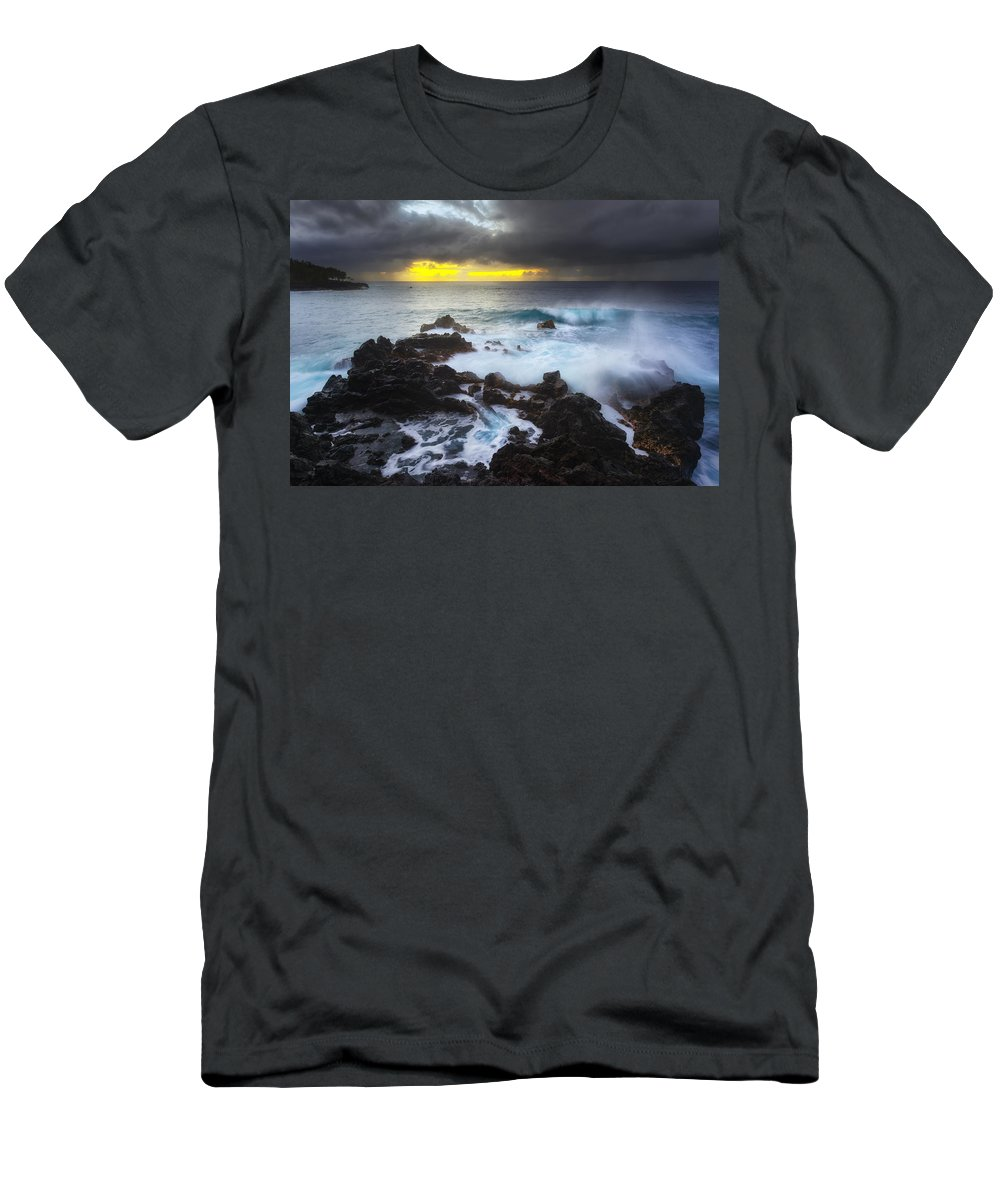 Kehena Men's T-Shirt (Athletic Fit) featuring the photograph Between Two Storms by Ryan Manuel