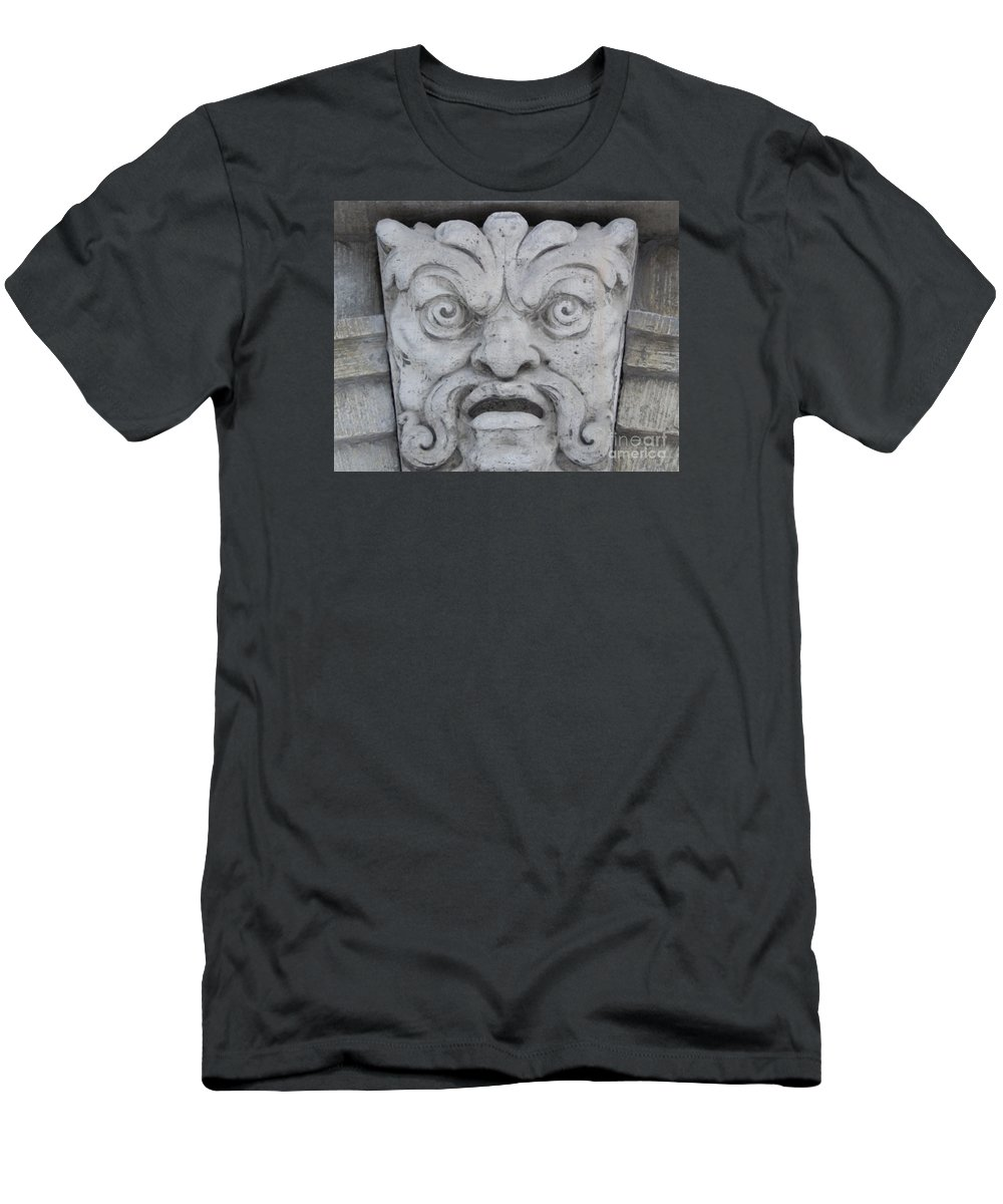 Tallin Men's T-Shirt (Athletic Fit) featuring the photograph Beware by Margaret Brooks