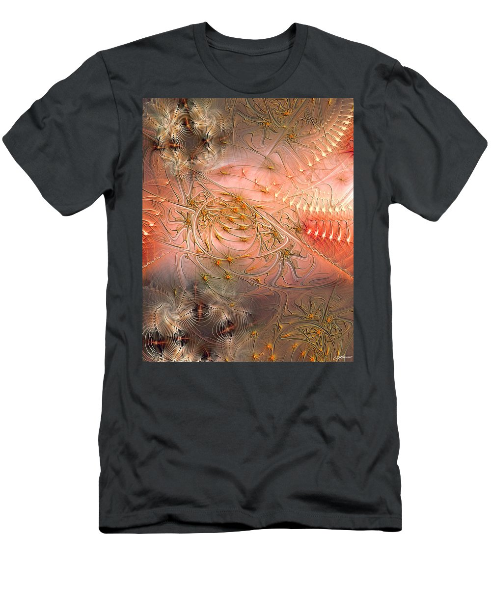 Abstract Men's T-Shirt (Athletic Fit) featuring the digital art Beyond Solipsism by Casey Kotas
