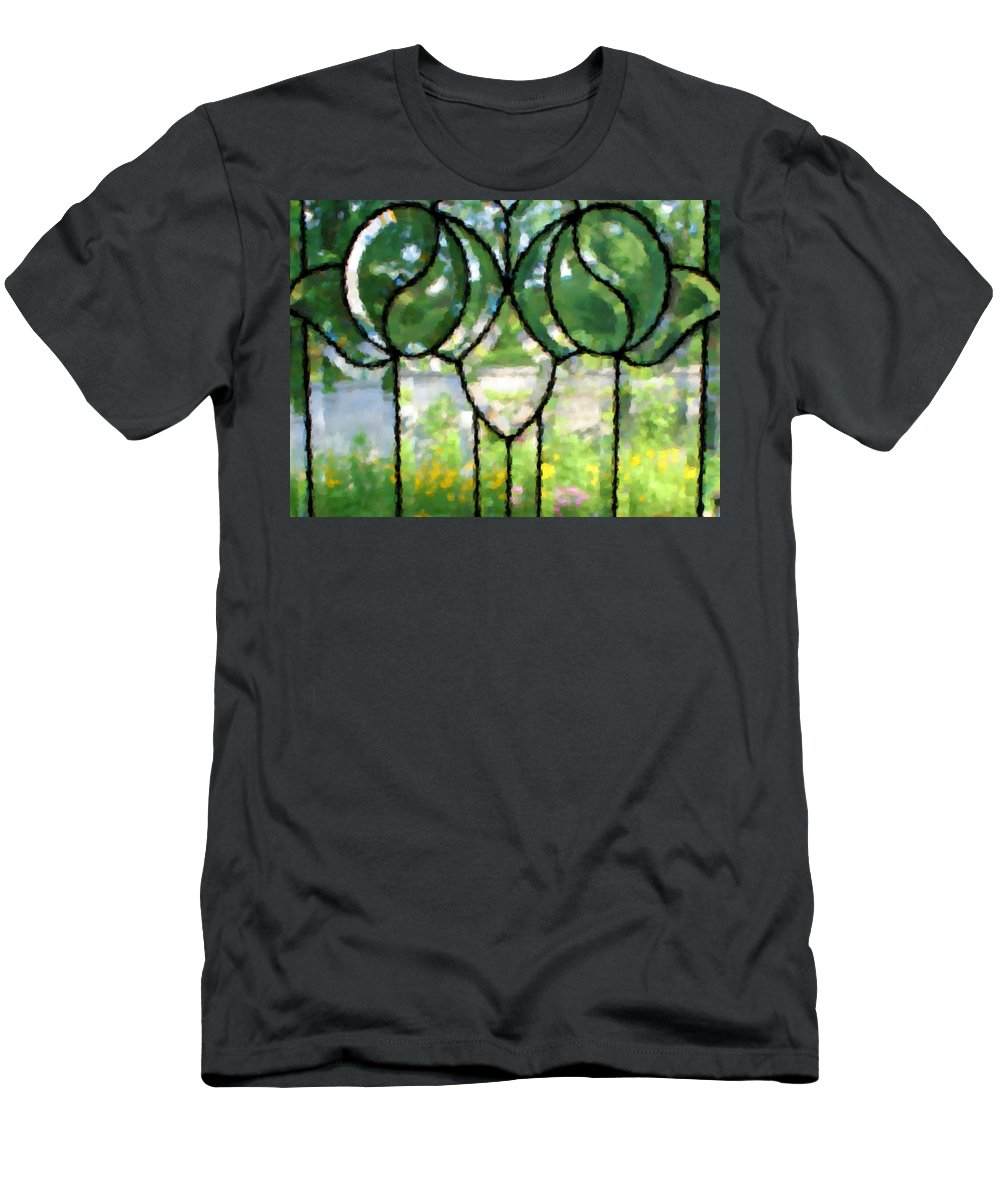 Glass Men's T-Shirt (Athletic Fit) featuring the photograph Beyond The Glass by Kristin Elmquist