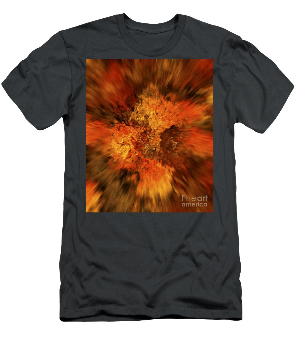 Abstract Men's T-Shirt (Athletic Fit) featuring the digital art Big Band - Fiery Cloud by Michal Boubin
