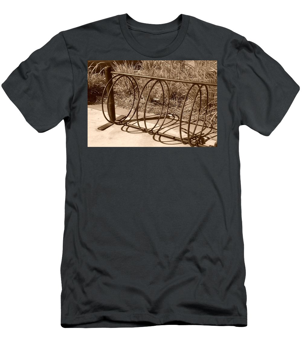 Bicycle Men's T-Shirt (Athletic Fit) featuring the photograph Bike Rack by Rob Hans