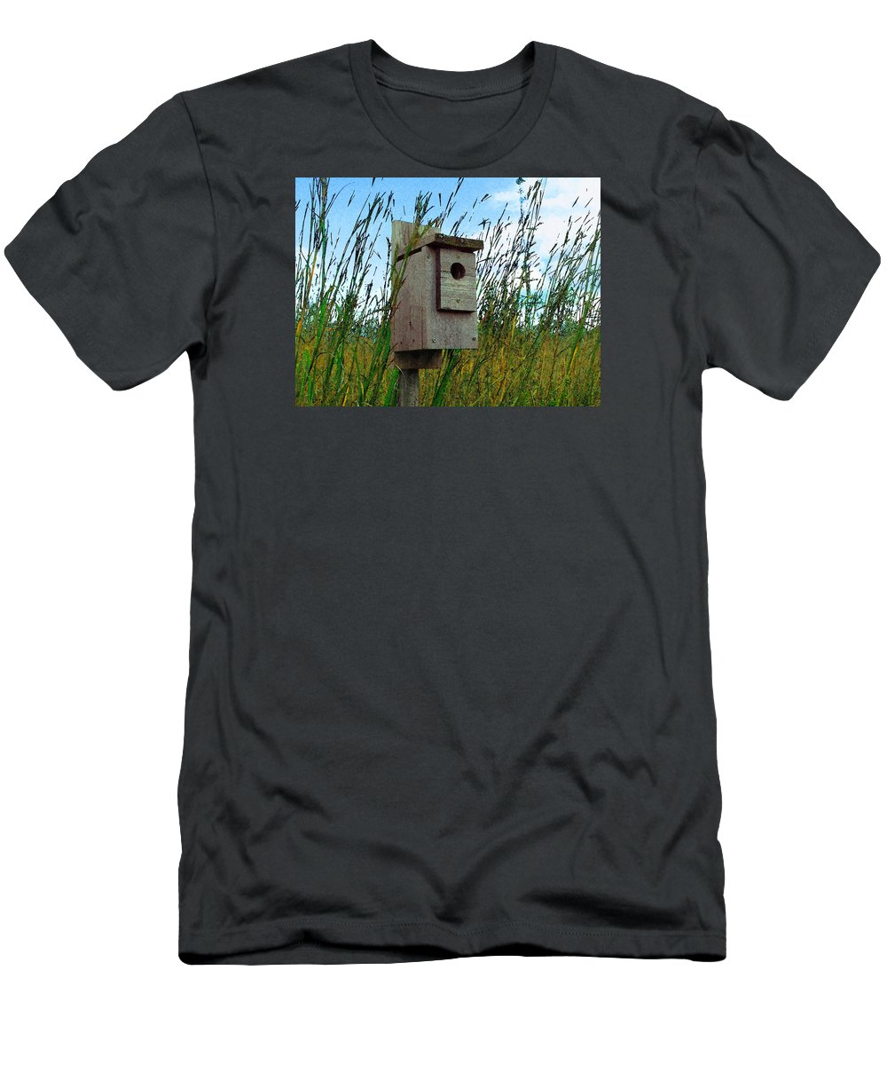 Cedric Hampton Men's T-Shirt (Athletic Fit) featuring the photograph Bird House by Cedric Hampton