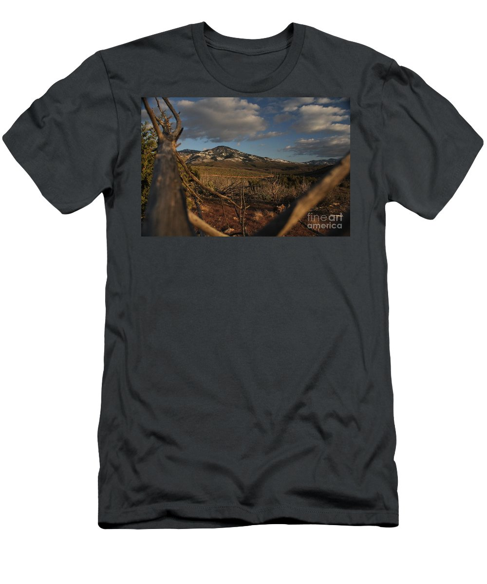 Tree Men's T-Shirt (Athletic Fit) featuring the photograph Bird's Eye View by Marlous Bleazard