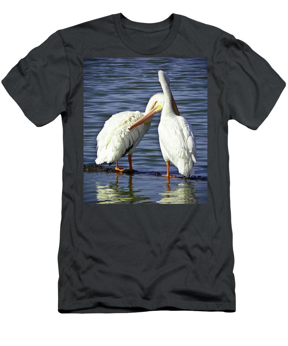 America Men's T-Shirt (Athletic Fit) featuring the photograph Birds Of A Feather by Angela Wright