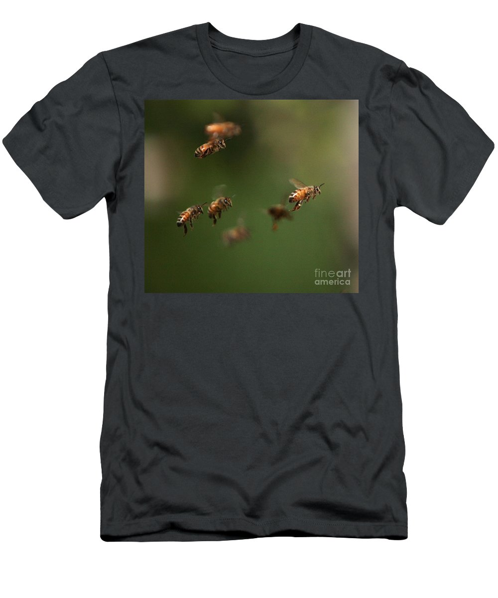 Bee Men's T-Shirt (Athletic Fit) featuring the photograph Bizzzzzzz by Robert Pearson