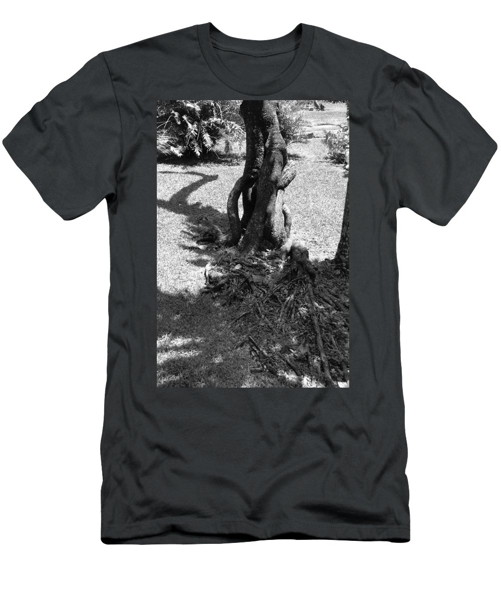 Black And White Men's T-Shirt (Athletic Fit) featuring the photograph Black And White Roots by Rob Hans