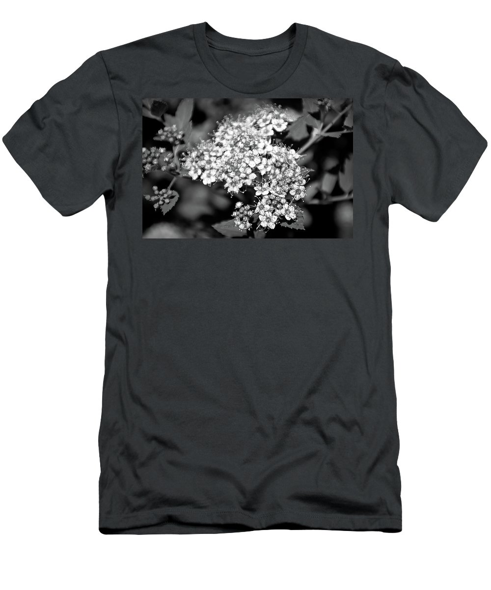 Flower Men's T-Shirt (Athletic Fit) featuring the photograph Black And White Twinkle by Aimee L Maher ALM GALLERY