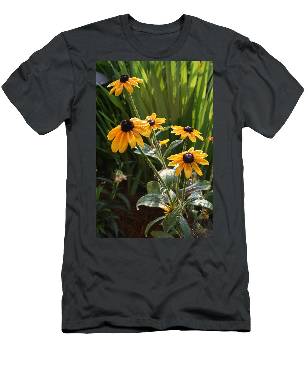 Flowers Men's T-Shirt (Athletic Fit) featuring the photograph Black-eyed Susans by Greg Joens