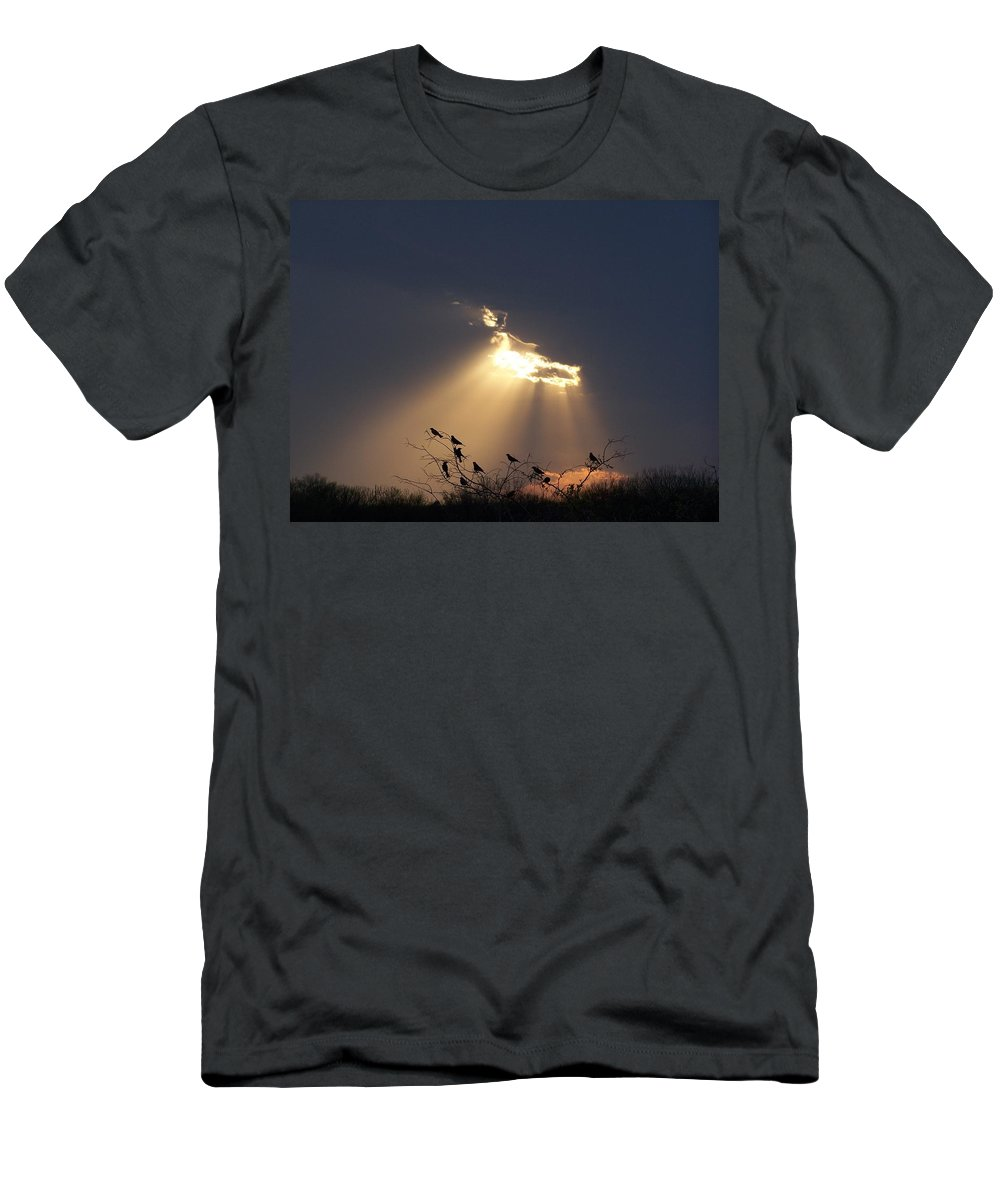 Storm Men's T-Shirt (Athletic Fit) featuring the photograph Blackbird Sky by Gale Cochran-Smith