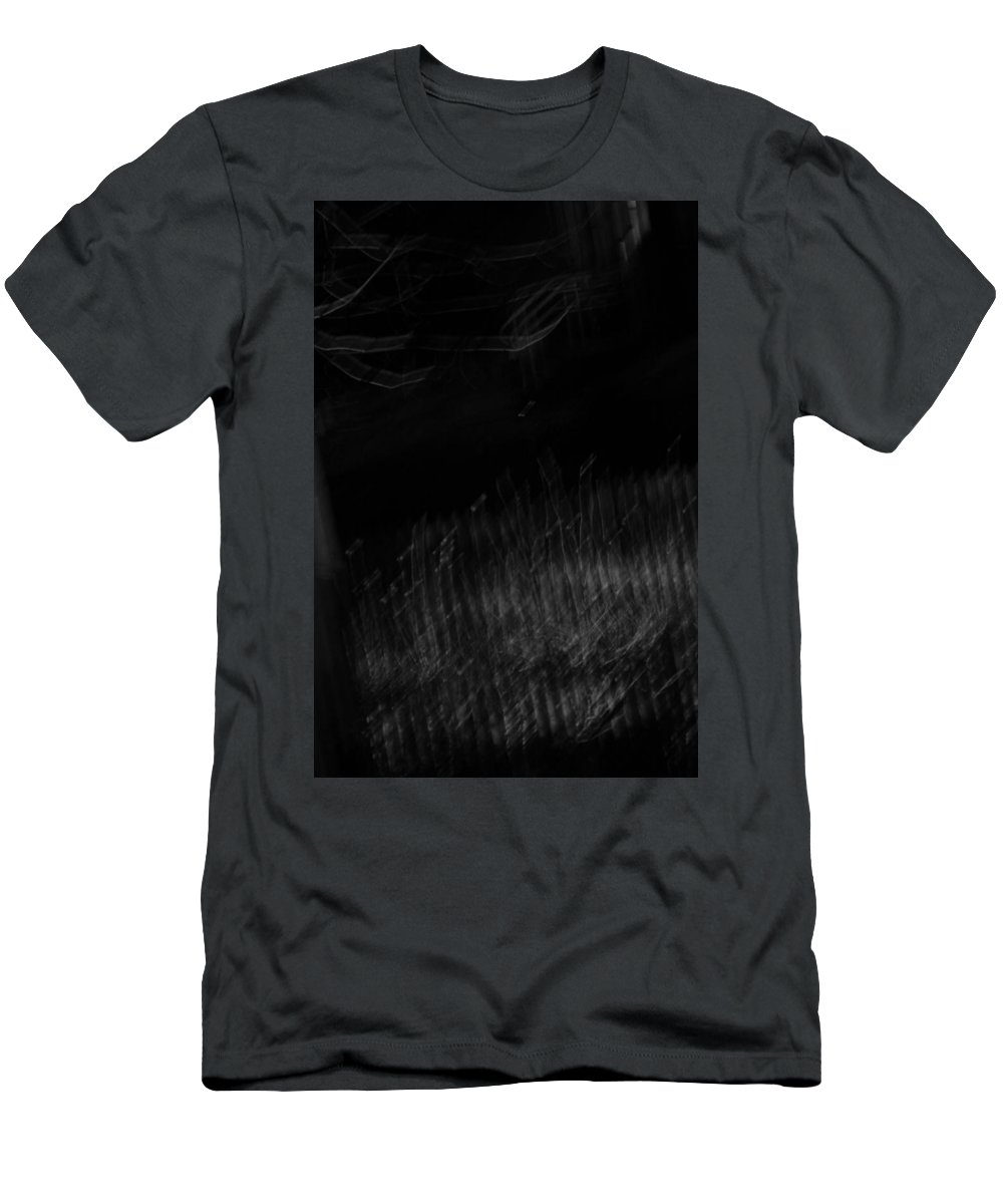 Blackness Men's T-Shirt (Athletic Fit) featuring the photograph Blackest Morning by Steven Macanka