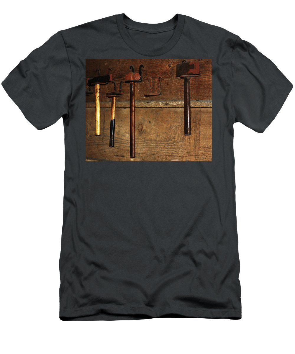 Blacksmith Photographs T-Shirt featuring the photograph Blacksmith Tools by Kim Henderson