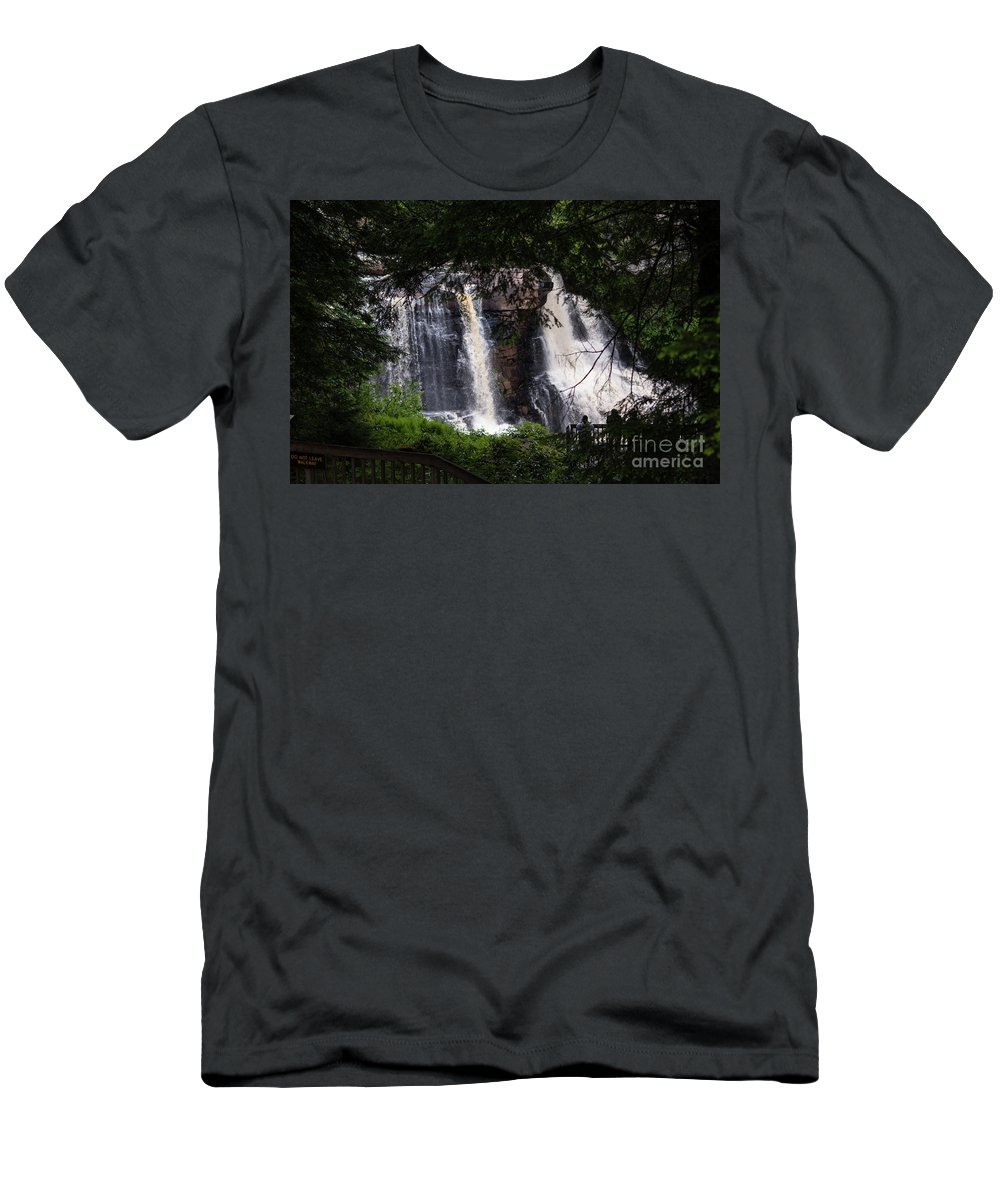 Blackwater Men's T-Shirt (Athletic Fit) featuring the photograph Blackwater Falls #2 by Kevin Gladwell